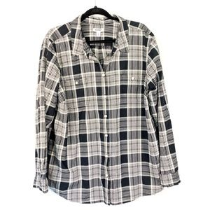 Old baby black & white plaid long sleeve
